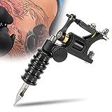 Máquinas de tatuaje rotativas, máquina de tatuaje + mango + boquilla de aguja Juego de máquina de tatuaje motor profesional