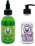 VIKING INK - Kit Limpiador WASH GREEN SOAP + STENCIL para tatuajes 8oz (240ml)