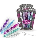 Trendhaus Trendhaus920935 - Bolígrafos de gel (5 unidades), color plateado, lila, rosa, azul y verde