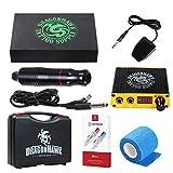 Dragonhawk Cartridge Tattoo Machine Kit Pen Rotary Tattoo Machine Cartridge Needles Power Supply for Tattoo Artists DML-5