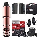 Stigma Kit de Tatuaje Rotativa Pluma Maquina de Tatuaje 2 Bateria 20 pcs Cartuchos 2 Grip de Tatuaje Vendaje Cohesivo con Maletin