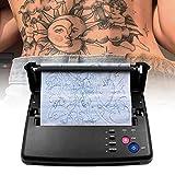 KKTECT Máquina de transferencia de tatuajes, Impresora térmica Máquina de plantilla térmica de tatuaje Impresora fotocopiadora con 10 piezas de papel de transferencia térmica