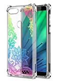 Oihxse Cristal Compatible con Huawei Mate 10 Lite Funda Transparente TPU Silicona Estuche Airbag Esquinas Anti-Choque Anti Rasguños Diseño Rosa Flower Caso (Flores B7)