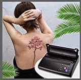 4YANG Máquina de transferencia de tatuajes,Impresora de plantillas de tatuajes Impresora térmica con 10 piezas,Impresora Copiadora de Transferencia de Carbono Anself para tatuaje de bricolaje